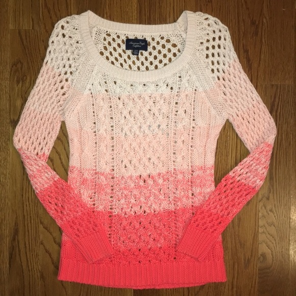 American Eagle Outfitters Sweaters - AEO Dip-Dye American Eagle Coral Sweater Size XS